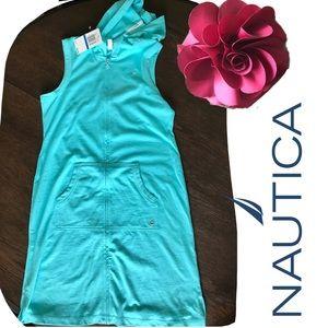 NWT Nautica Hooded Knit Shirt Dress/Swim Coverup